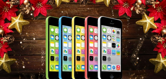iphone 5c julegave Tilbud